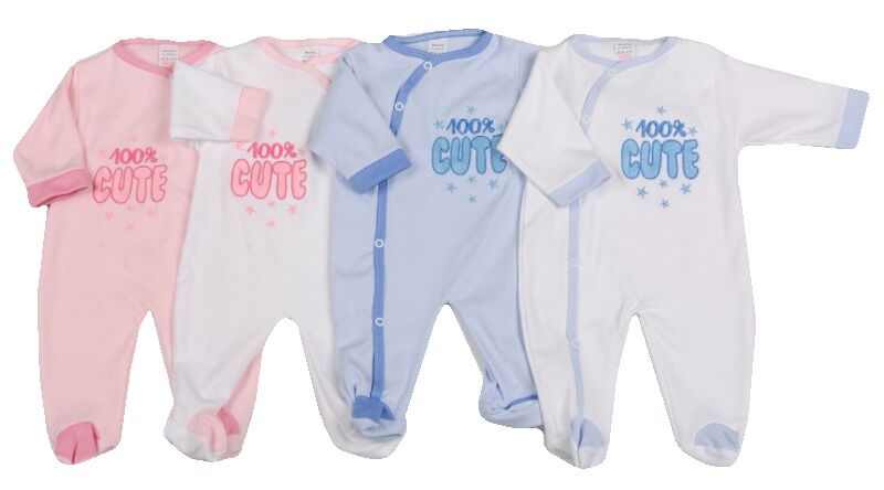 2-3lb early baby clothing babygrow LITTLE CUTIE white pink