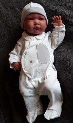neonatal baby clothes premature sleepsuit set ELO ELEPHANT size 5-8lb