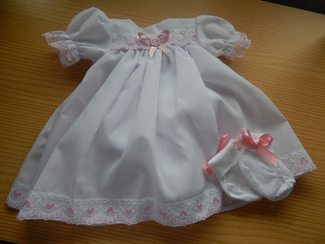 premature baby bereavement gown white dress 3-4lb PUREST LOVE