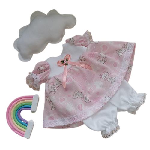 premature baby dress set MISS POLLY 2-3lb  PINK