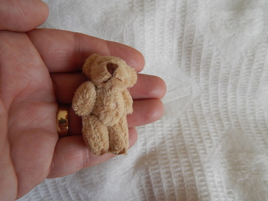 miscarried Baby smallest Teddy bear memory box cutest BONZO Beige