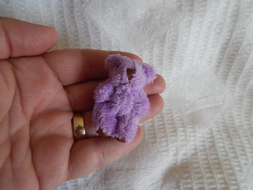 Baby Loss bereavement Teddies Lilac teddy bears memory box 4.5cm LUCY