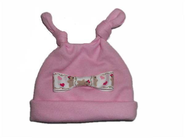 preterm baby clothes Premature Festive hat GINGERBREAD Bow girls pink 2-3lb