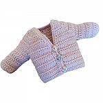 girls cardigans premature baby 3-5lb size DUSKY PINK hand crochet
