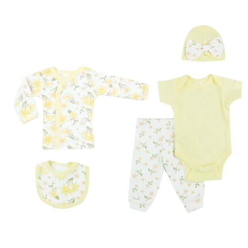 girls premature baby clothes 3-5lb BUDS IN BLOOM lemon outfit