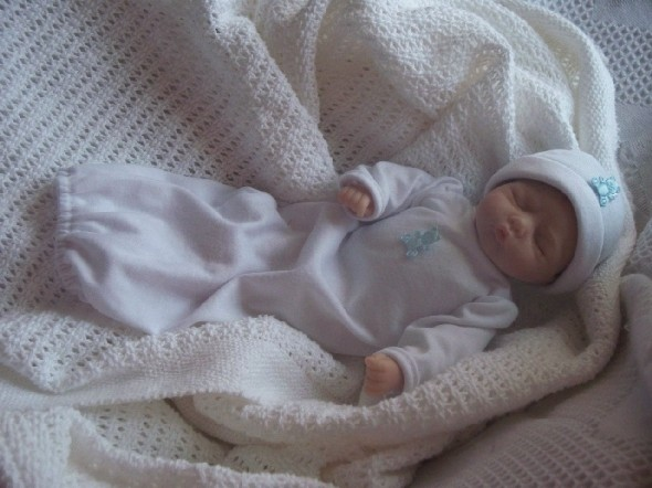 Early baby  bereavement clothes UNISEX GOODNIGHT SLEEPTIGHT BABY 1-2lb