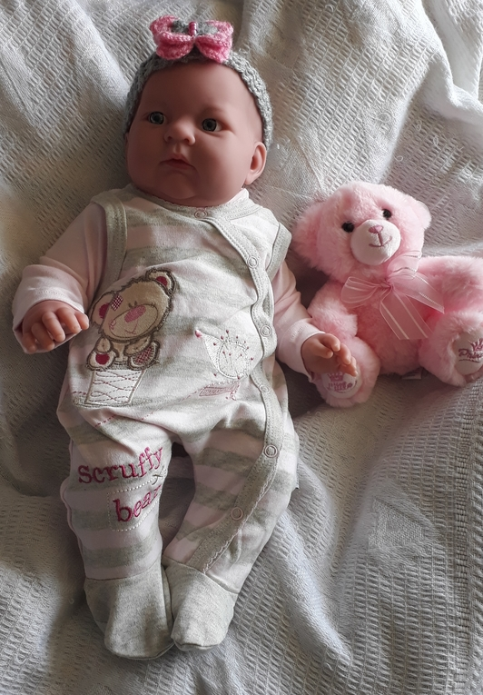 premature baby clothes 3-5lb outfit pink stripes MY FRIENDS