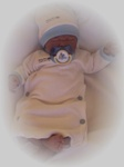 premature baby clothing preemie gown Easy Gown and  beanie hat 3-5lb
