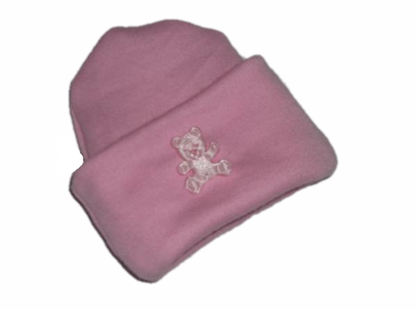 stillbirth 10 inch tiny  baby clothes HAT teddy motif BEREAVEMENT ANY COLOUR
