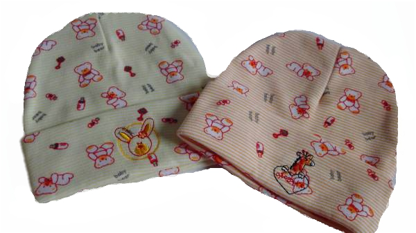 Girls pretty Tiny baby hat BABY BEAR Lemon or Peach 3-5lb