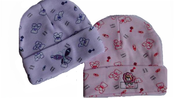 Girls pretty prem baby hat BABY BEAR Pink or Lilac 3-5lb