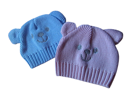 girls premature baby clothes uk KNITTED hat HUGGY BEAR 3-5lb in pink