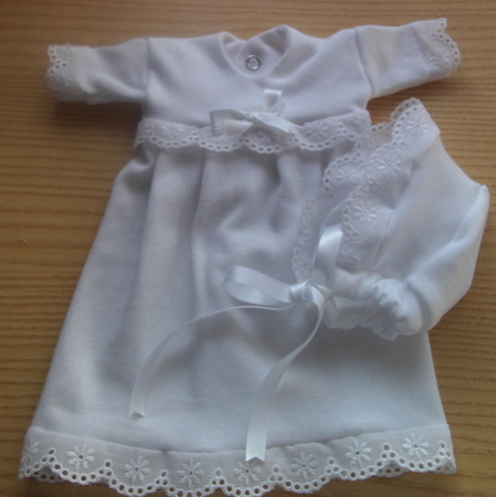 preterm baby loss GIRLS bereavement dress set HEAVENS JOY Born 23-24weeks