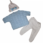 boys baby funeral clothes born at 22 weeks blue JUMPER set