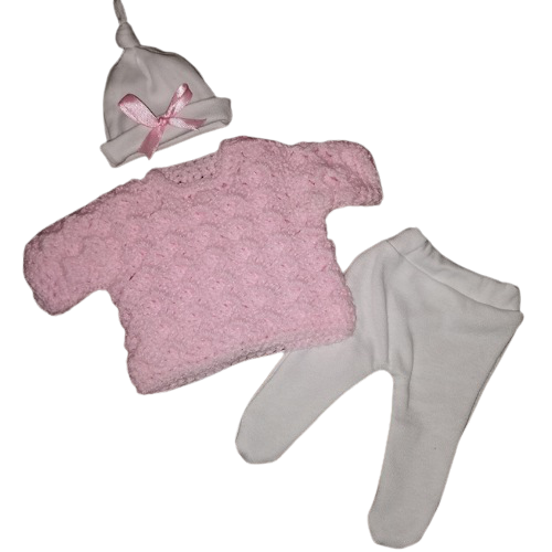 girls baby bereavement clothes PINK jumper full outfit born at 22 weeks