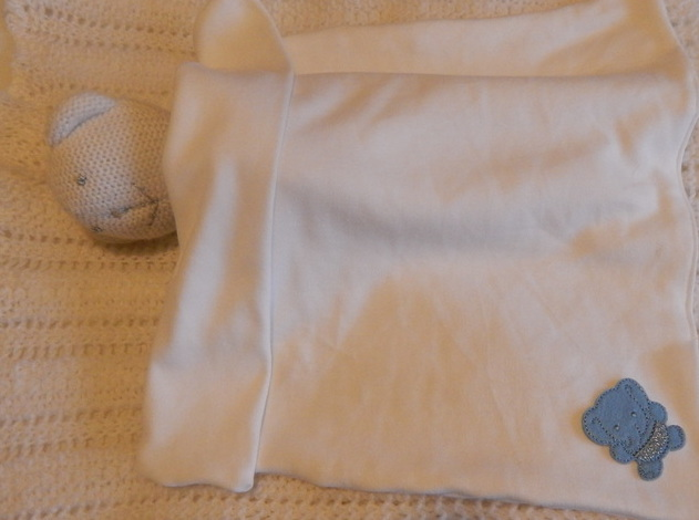 blue tiny babies bereavement blanket WELLIEPHANT boy born 22-24week
