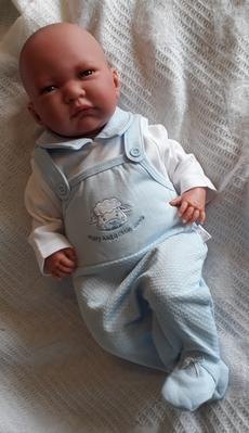 tiny baby clothes outfit dungaree style 5-8lb nanas gift PRECIOUS LAMB