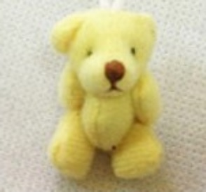 stillborn baby gift 4cm teddies memory box  teddy LIGHT LEMON unisex