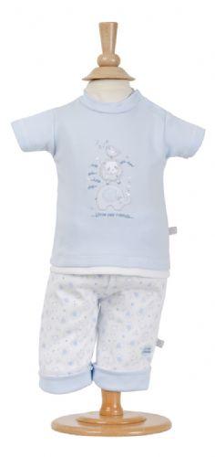 cutest premature baby clothes blue TOP + LEGGINGS set 3-5LB