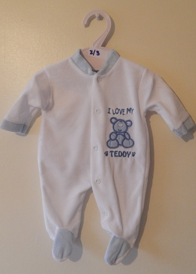 cute boys premature babies clothes early baby 5-8lb LOVABLES sleepsuit