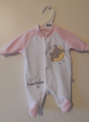 preterm baby clothes tiny baby sleepsuit girls 2-3lb SWEET DREAMER Pink