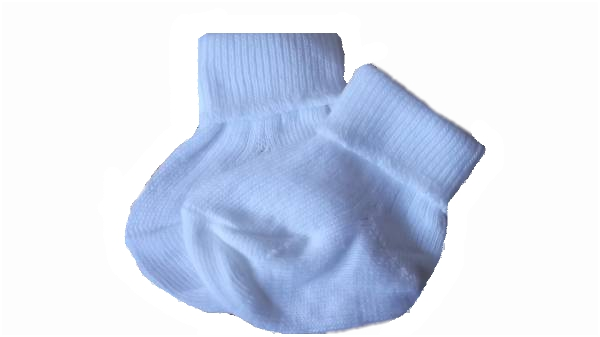 white tiny baby socks LITTLEONES 3-5LB 0000 premature baby socks