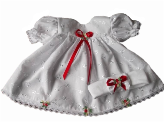 delightful dresses premature baby clothes  tiny babies dress RUBY ROSE 2-3lb