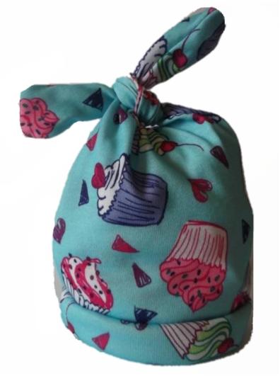 girls premature baby clothes  a designer 5-8lb tie knot hat  CUTIE CUPCAKE