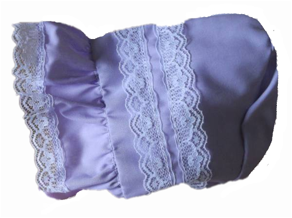 premature baby girls pretty hats bonnet tiny baby LACELY sun bonnet LILAC 5-8LB