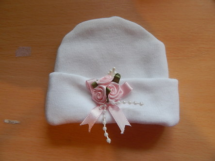 premature baby bereavement hat 22 -24 weeks  MISS ELEGANCE stillborn babies clothes