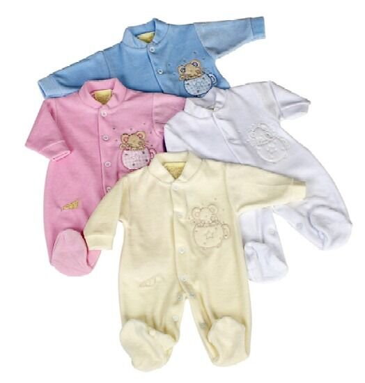 prem baby clothes tiny babygrow MUFFIN MOUSE 5-8lb size in  white