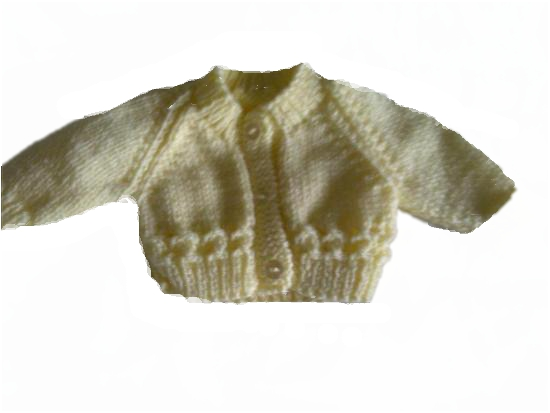 Unisex premature baby clothes Micro early baby clothes  CARDIGAN Pastels LEMON 2-3lb