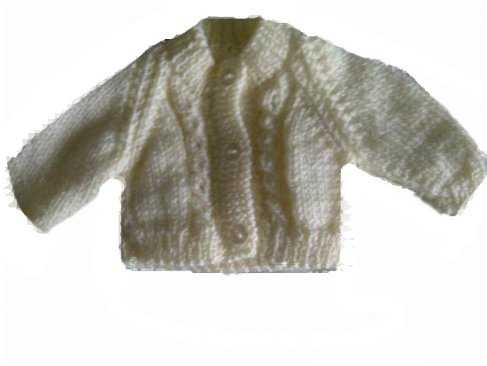 Micro early baby clothes CARDIGAN Pastels CREAM 2-3lb