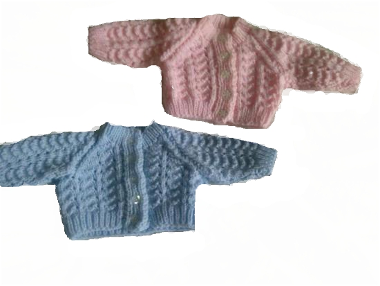 Titch premature baby cardigans PASTEL shades  BLUE 3-5LB.