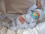 Nanny Nicu premature baby clothes compliment set pin stripe blue 3-5lb