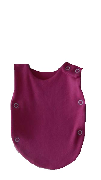 Nicu vest poppers Cerise Pink all tiny sizes