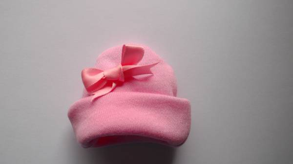 micro sized clothes premature labour tiny babies Tiny hat ANY PINK shade BABYBOW 12cm