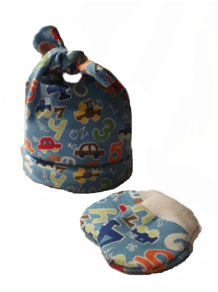 prem  new baby Tie knot hat in RED EARLY LEARNER 5-8lb (3.0-3.5KG)