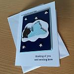condolences card baby boy MIDNIGHT NAP infant bereavement cards