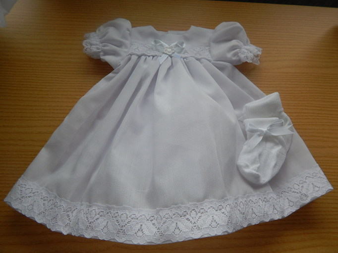 baby loss Girls bereavement clothes gown white dress set OUR ANGEL 3-4lb