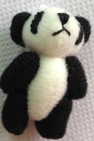 bereavement teddies baby loss memory box 4cm PIP THE PANDA 4cm teddybear