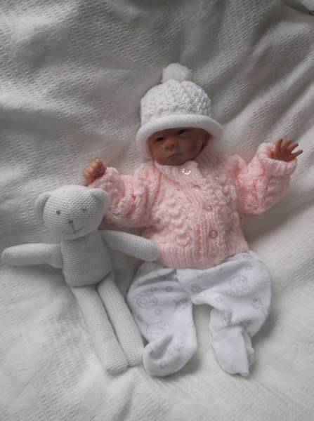 3lb tiny baby buy 3-5lb premature baby clothes Peach PASTEL cardigans here