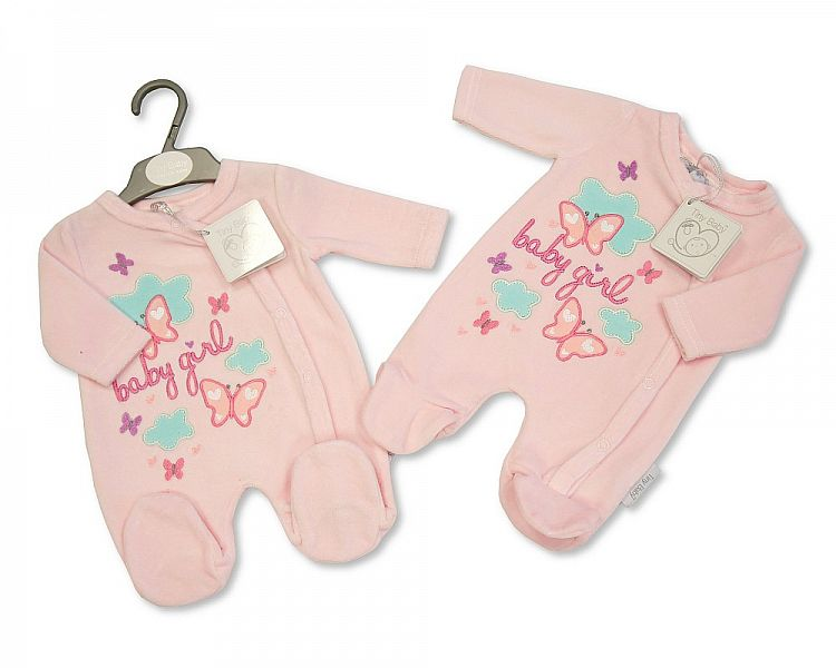 Girls premature baby clothes babygrow PINK 5-8LB Luvy Dove BUTTERLFIES