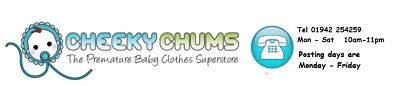 Cheeky Chums Premature Baby Clothes Superstore