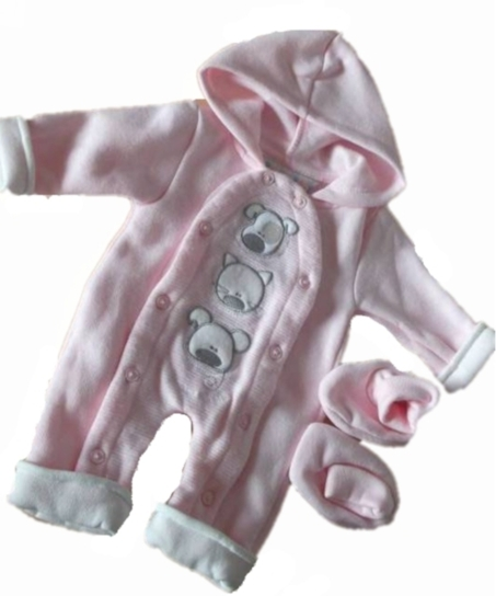 girls premature baby clothes all in one coat Pink BEST BUDDIES 3-5lb