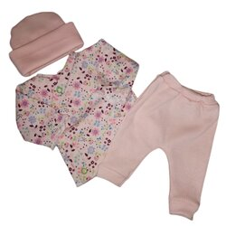 early babies clothing 2-3lb PRETTY IN PEACH