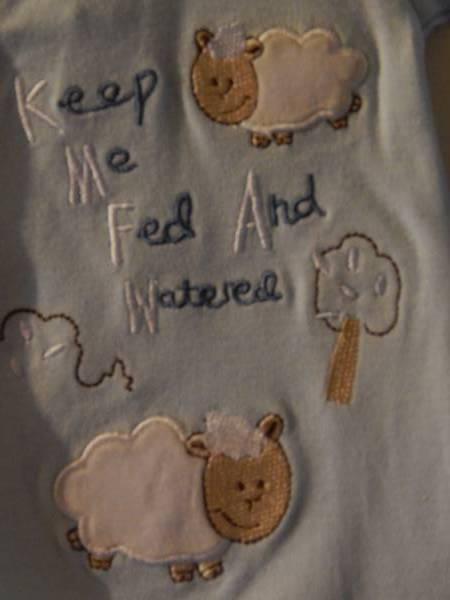 boys premature baby clothes sleepsuit 5-8lb LA LA LAMB blue shade