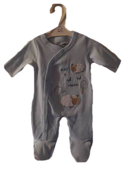 boys premature baby clothes sleepsuit 5-8lb LA LA LAMB blue shade
