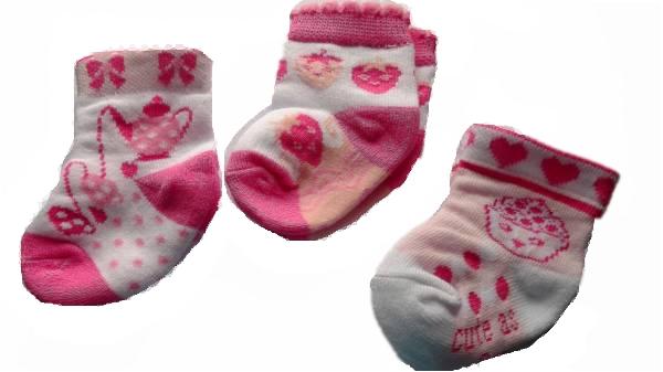 Girls Premature baby socks 5-8lb 000 TIME FOR TEA tiny babies