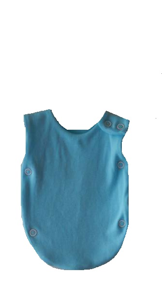 Premature labour Baby Boy neonatal clothes babies born 1-2lb OCEAN BLUE popper vest